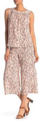 MelloDay Printed Cropped Wide Leg Pants