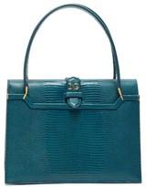 Dolce & Gabbana Ingrid Small Lizard-effect Leather Bag - Womens - Blue