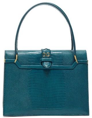 Dolce & Gabbana Ingrid Small Lizard-effect Leather Bag - Blue