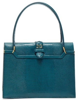 Dolce & Gabbana Ingrid Small Lizard-effect Leather Bag - Womens - Blue