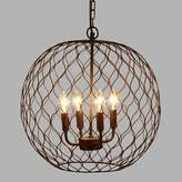 World Market Dark Bronze Globe Farmhouse Chandelier
