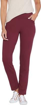 Denim & Co. Active Regular French Terry Straight Leg Pants w/Pockets