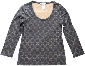 Celine Blue Cotton Top for Women Vintage