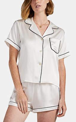 Morgan Lane Women's Katelyn Silk Pajama Top - White