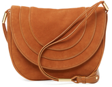Diane von Furstenberg Large Nubuck Saddle Crossbody