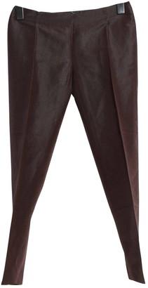 Max Mara \N Brown Linen Trousers
