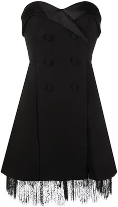 Self-Portrait Tuxedo Cocktail Dress