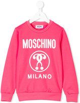 Moschino Kids - logo print sweatshirt - kids - Cotton/Polyester - 4 yrs