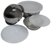 Threshold Stainless Steel Mixing Bowl with Plastic Lid Set of 3