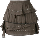 IRO ruffled mini skirt - women - Cotton/Viscose - 34