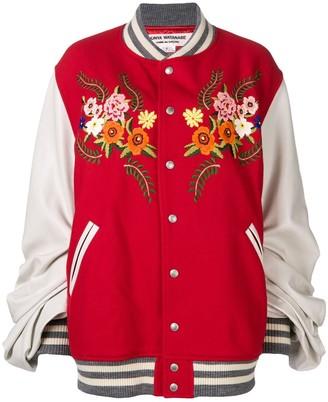 Junya Watanabe COMME DES GARCONS embroidered floral bomber jacket
