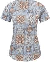 M&Co Tile print twist neck top