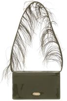Nina Ricci feather handle shoulder bag - women - Patent Leather/Feather - One Size