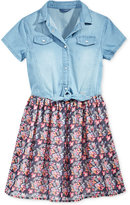 GUESS Denim Chiffon Dress, Big Girls (7-16)