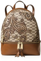 MICHAEL Michael Kors Studio Rhea Medium Zip Paisley Backpack