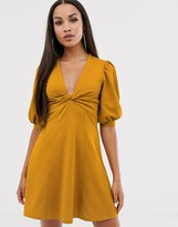 Asos DESIGN mini twist front tea dress