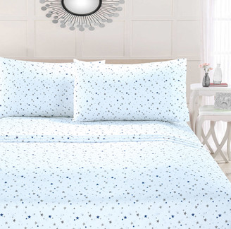 Your Zone Blue Stars Microfiber Sheet Set