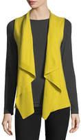 Neiman Marcus Exposed-Seam Cashmere Vest