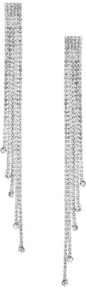 Kenneth Jay Lane Silvertone Multi-Strand Linear Earrings