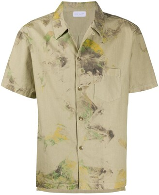 John Elliott Abstract Tie-Dye Bowling Shirt