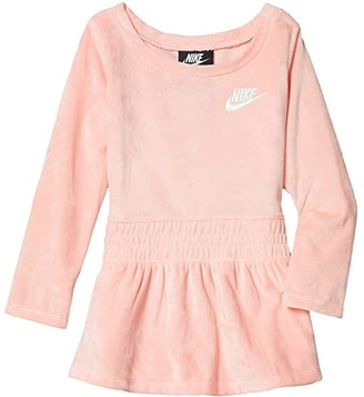 Nike Kids Sportswear Velour Dress (Toddler) (Bleached Coral) Girl's Dress