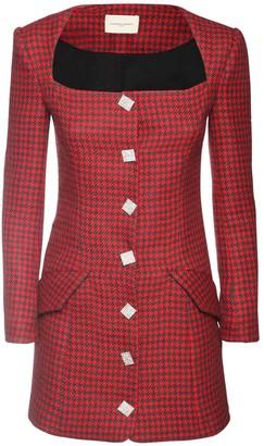 Giuseppe di Morabito Wool Blend Houndstooth Jacket Dress