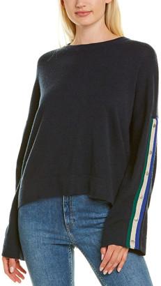 Autumn Cashmere Boxy Snap Sleeve Cashmere Sweater