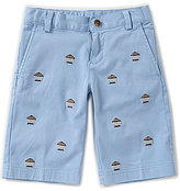 Brooks Brothers Little/Big Boys 4-20 Embroidered Tiki Hut Shorts