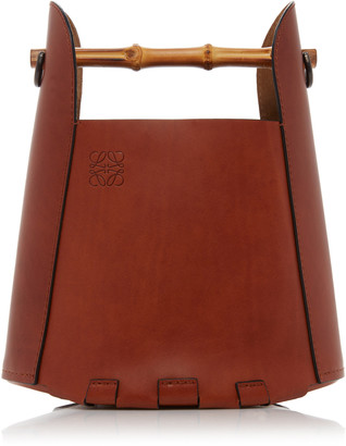 Loewe Bamboo Leather Bucket Top Handle Bag