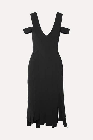 Knit Tiziana Shoulder Black Dress Stretch Cold nPOX0w8k