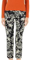 Marc Cain Floral Print Cropped Trousers, Black