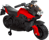 Red Training Wheels Motorcycle Ride-On