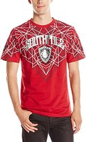 Southpole Men's Short Sleeve Graphic Tee with Logo and Top Geometric Prints