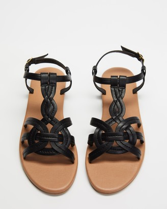 Spurr Women's Black Strappy sandals - Tariq Sandals - Size 5 at The Iconic