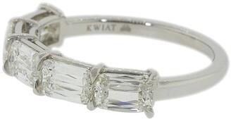 Kwiat platinum Ashoka east-west prong-set partway diamond ring