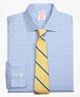 Brooks Brothers Non-Iron Milano Fit Glen Plaid Overcheck Dress Shirt