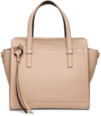 Salvatore Ferragamo Amy S beige leather tote bag