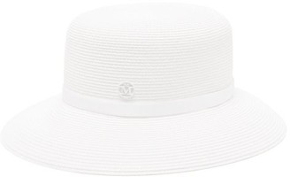 Maison Michel Kendall Straw Hat - Womens - White
