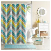 Nobrand No Brand Eliana Geometric Print Microfiber Shower Curtain
