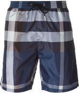 Burberry plaid print swim shorts - men - Polyester - S