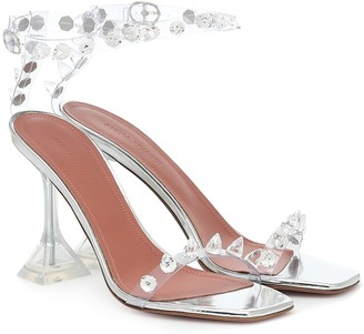 Amina Muaddi Julia crystal-embellished PVC sandals