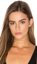 Natalie B x REVOLVE NYC Kiss Choker in Metallic Gold.