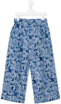 Simonetta floral print trousers - kids - Polyamide/Acetate/Cupro/Viscose - 15 yrs