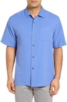 Tommy Bahama Men's Big & Tall 'Catalina Twill' Short Sleeve Silk Camp Shirt