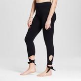 Xhilaration Women's Ballet Lace-Up Leggings Black
