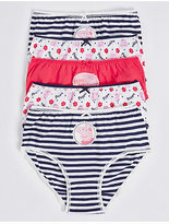 Marks and Spencer 5 Pack Pure Cotton Peppa PigTM Briefs (18 Months - 7 Years)