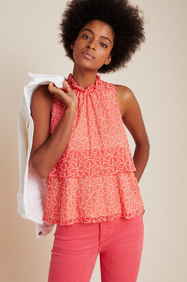 Floras Embroidered Top By Sunday in Brooklyn in Orange Size S