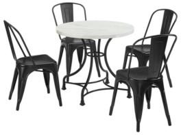 "Crosley Madeleine 32"" 5 Piece Dining Set With Amelia Chairs"
