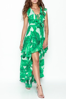 Olivaceous Palm Leaf Dress
