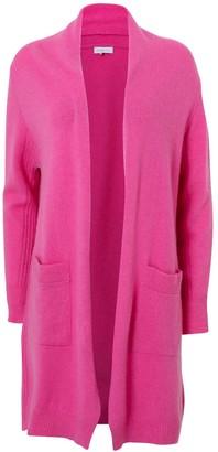 Silver Pink Boyfriend Cardigan In Pink